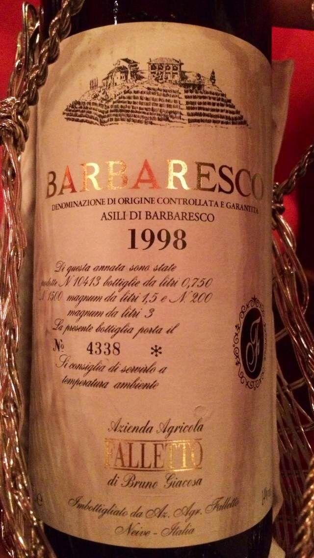 嘉科萨法莱特厂阿斯利园巴巴莱斯科干红Azienda Agricola FALLETTO di Bruno Giacosa Barbaresco