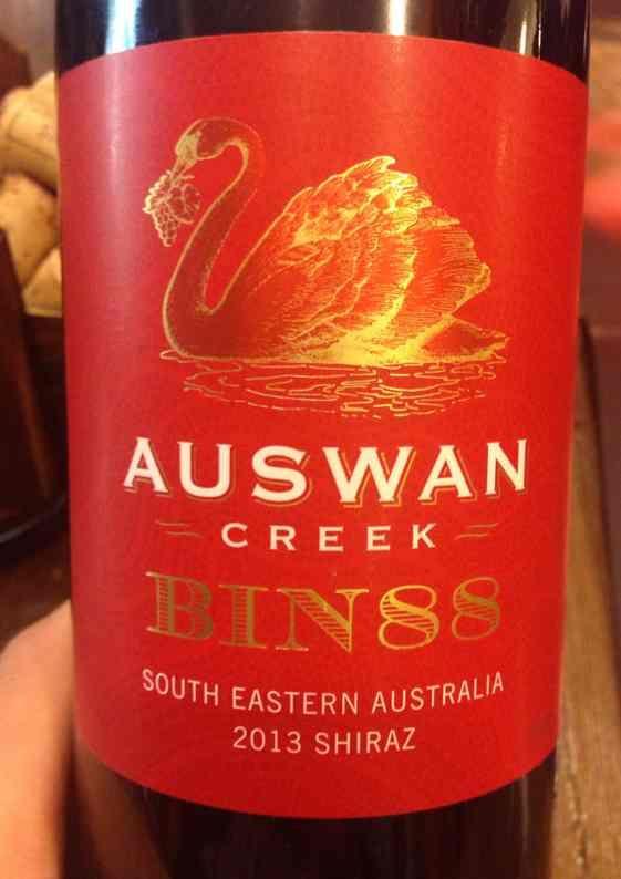 天鹅庄Bin88设拉子干红Auswan Creek Bin88