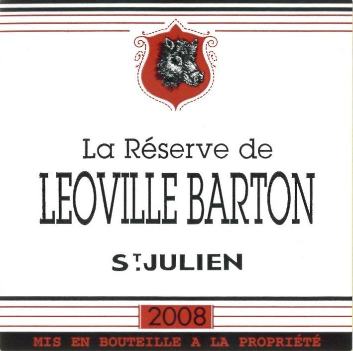 巴顿酒庄副牌干红La Reserve de Leoville Barton