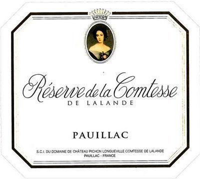 碧尚女爵酒庄副牌干红Reserve de la Comtesse de Lalande