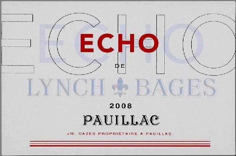 靓茨伯酒庄副牌干红Echo de Lynch-Bages
