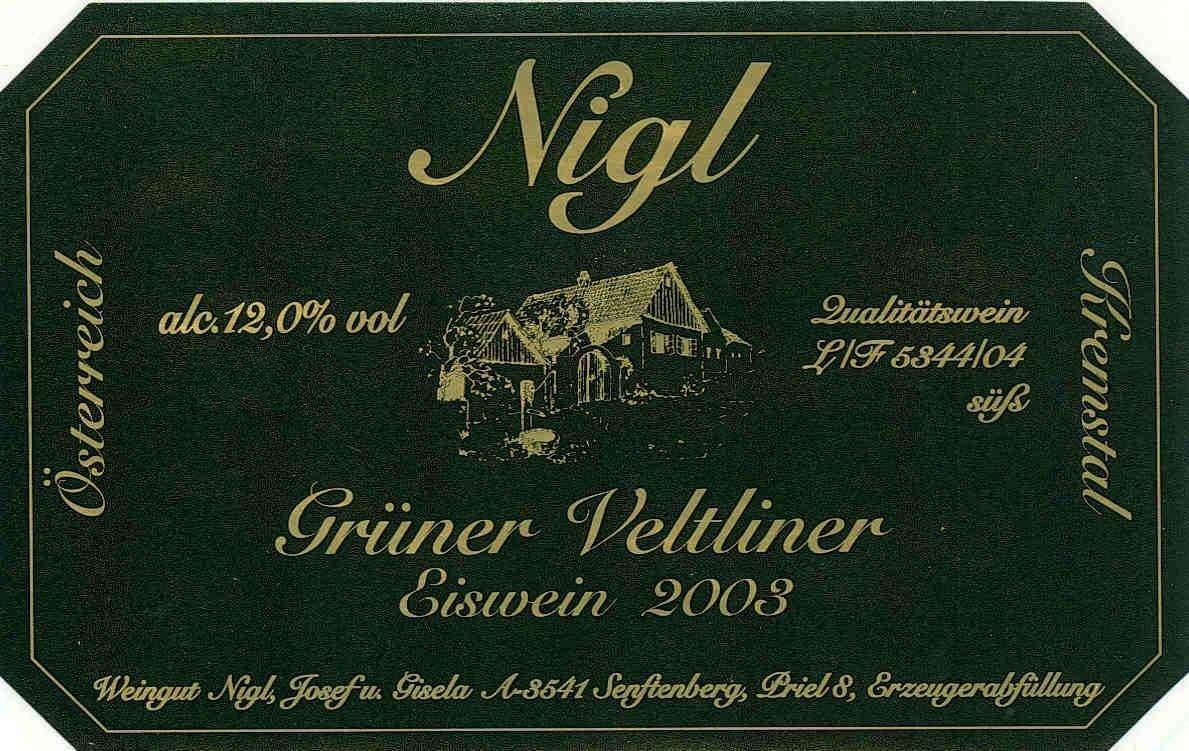 尼玖珍藏绿维特利纳干白Nigl Gruner Veltliner Privat