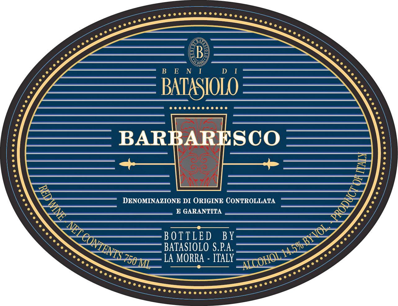 巴塔希巴巴莱斯科干红Beni di Batasiolo Barbaresco