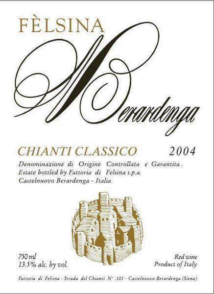 菲丝娜经典基昂蒂干红葡萄酒Felsina Berardenga Chianti Classico
