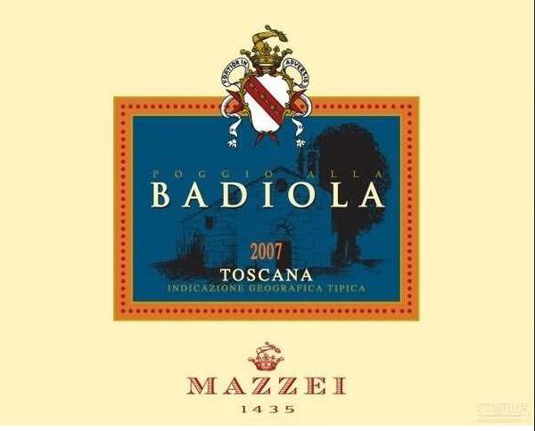 马泽世家凤都芭迪拉山岗干红Marchesi Mazzei Castello di Fonterutoli Poggio alla Badiola