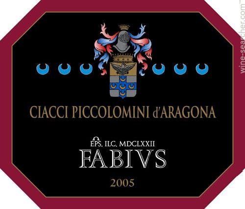 奇雅法比尤斯干红Ciacci Piccolomini d'Aragona Fabius