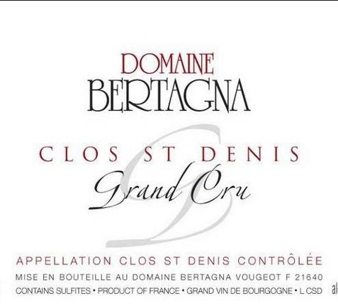 贝塔娜顶级圣丹尼斯干红Domaine Bertagna Clos Saint Denis Grand Cru