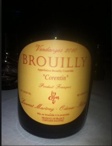 劳伦马特雷科朗坦干红Laurent Martray Brouilly Corentin