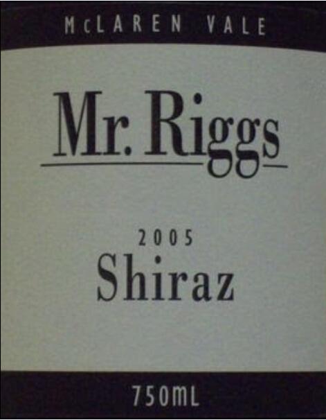 瑞格斯先生设拉子干红Mr. Riggs Shiraz