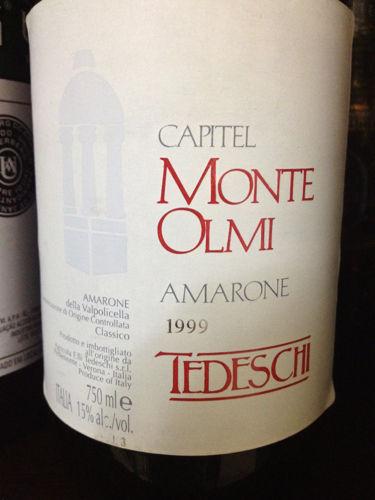 泰得奇蒙特欧尔米阿马罗尼干红Tedeschi Capitel Monte Olmi Amarone