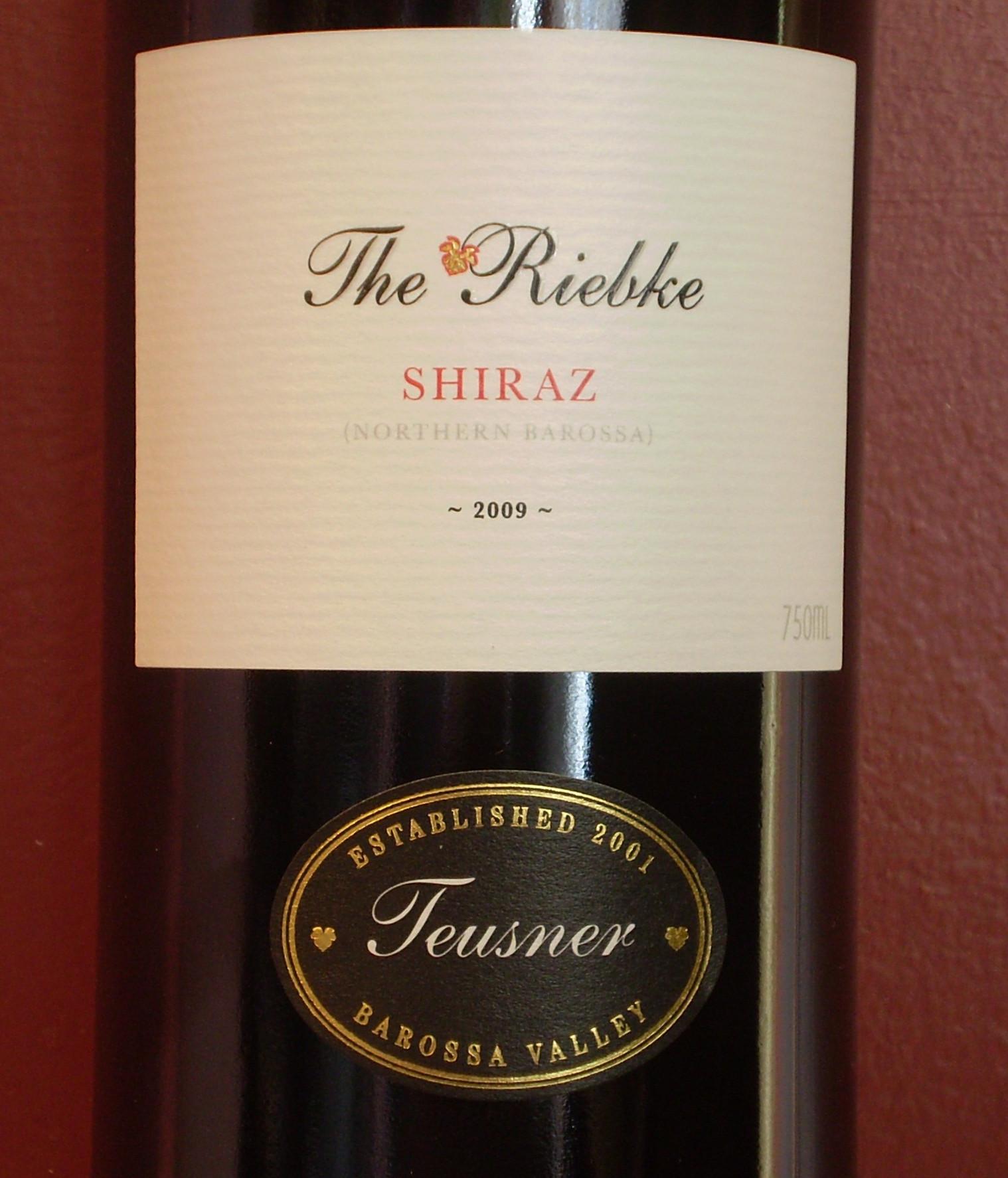 特思纳酒庄睿布可设拉子干红Teusner The Riebke Shiraz