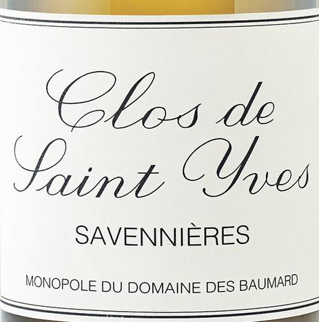 博马尔圣伊芙园干白Domaine des Baumard Clos Saint Yves