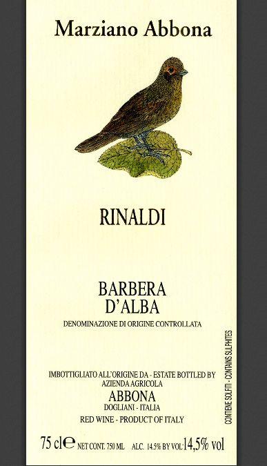 阿博纳酒庄瑞娜迪干红Marziano Abbona Rinaldi