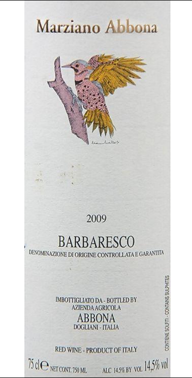 阿博纳酒庄巴巴莱斯科干红Marziano Abbona Barbaresco