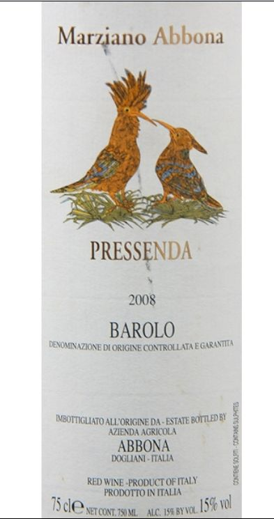 阿博纳酒庄普雷森达巴罗洛干红Marziano Abbona Pressenda Barolo