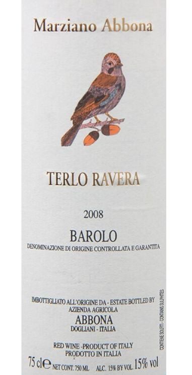 阿博纳酒庄拉维拉巴罗洛干红Marziano Abbona Terlo Ravera Barolo