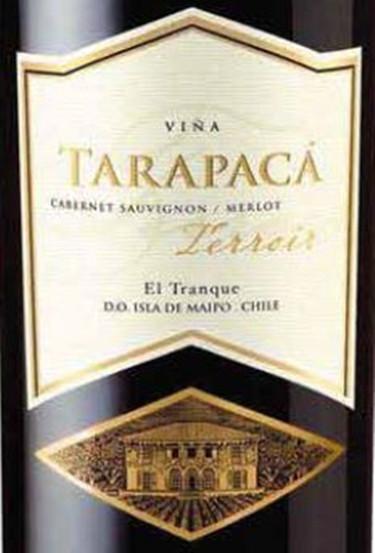 红蔓庄园塔拉布卡酒庄特费内里干红Vina Tarapaca Terroir EL Tranque Cabernet Sauvignon / Merlot