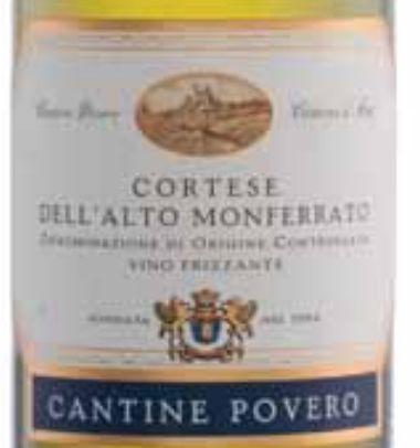 普维若柯蒂斯干白Cantine Povero Cortese Dell'Alto Monferrato