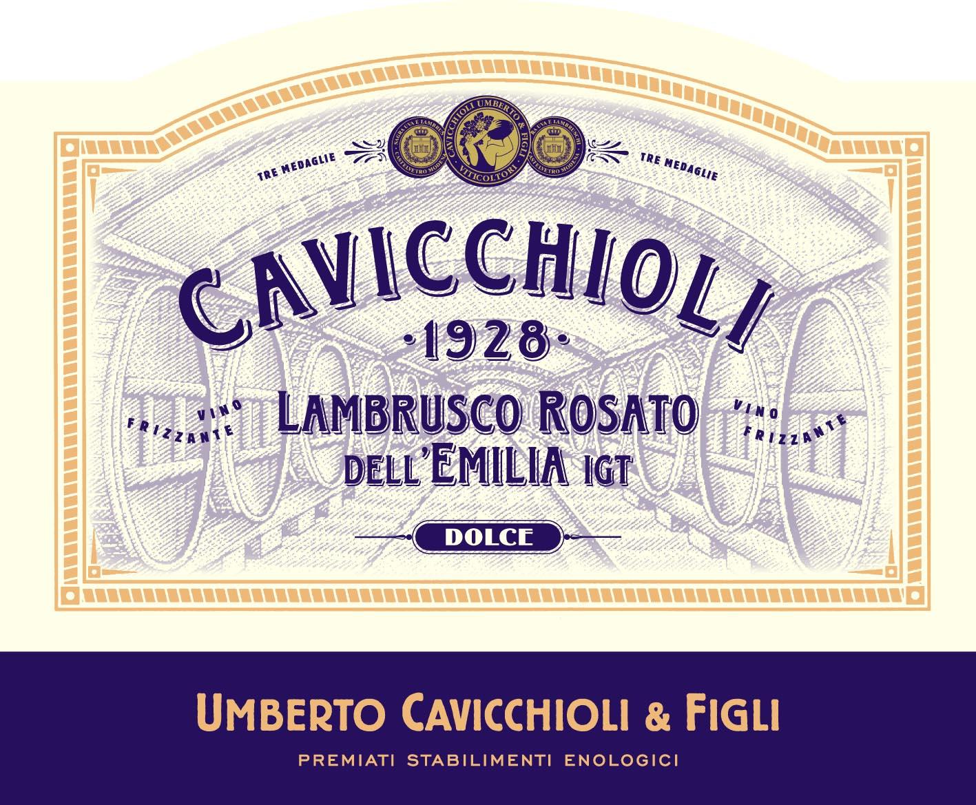 意大利之花桃红起泡Cavicchioli Lambrusco Rosato dell'Emilia  Dolce