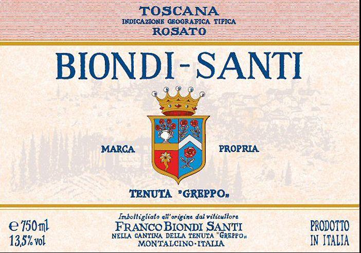 碧安帝山迪格瑞坡园桃红Biondi  Santi Tenuta Greppo Rosato di Toscana