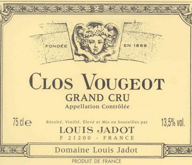 路易亚都武若园干红Louis Jadot Clos Vougeot