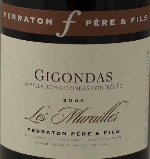 """费童酒庄贡达斯干红 Ferraton Gigondas """"les Murailles"""""""