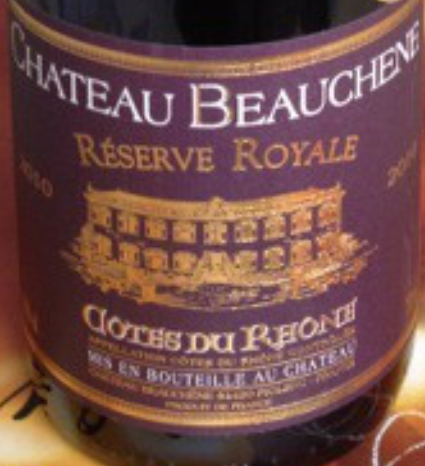 宝尚城堡皇家珍藏干红Chateau Beauchene Reverve Royale