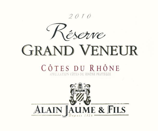 阿兰豪罗纳河谷大猎人园珍藏干红Alain Jaume & Fils Domaine Grand Veneur 'Cotes du Rhone Reserve Grand Veneur'