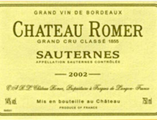 罗曼酒庄贵腐甜白Chateau Romer