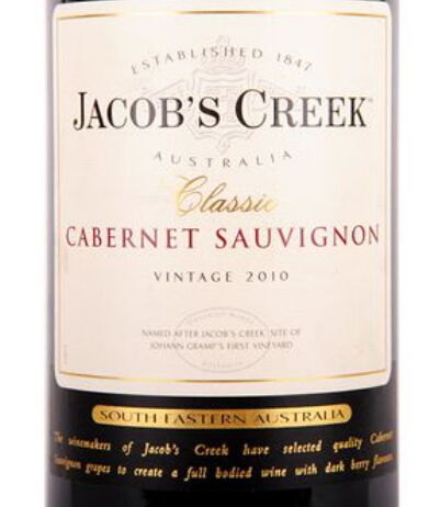 杰卡斯经典系列赤霞珠干红Jacob's Creek Classic Cabernet Sauvignon