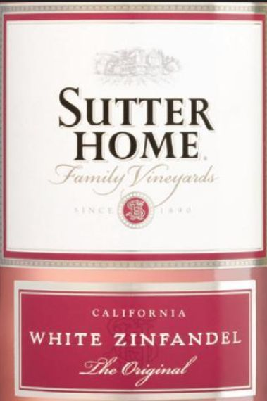 舒特家族白仙粉黛半干桃红Sutter Home The Original White Zinfandel