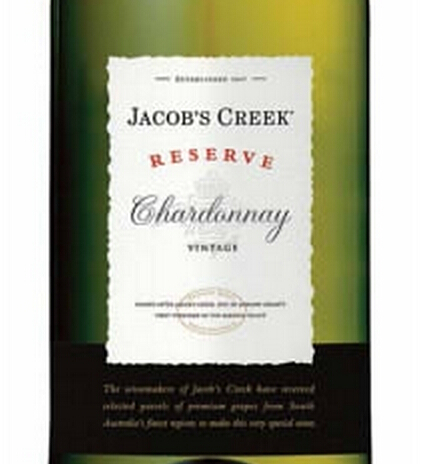 杰卡斯珍藏霞多丽干白Jacob's Creek Reserve Chardonnay