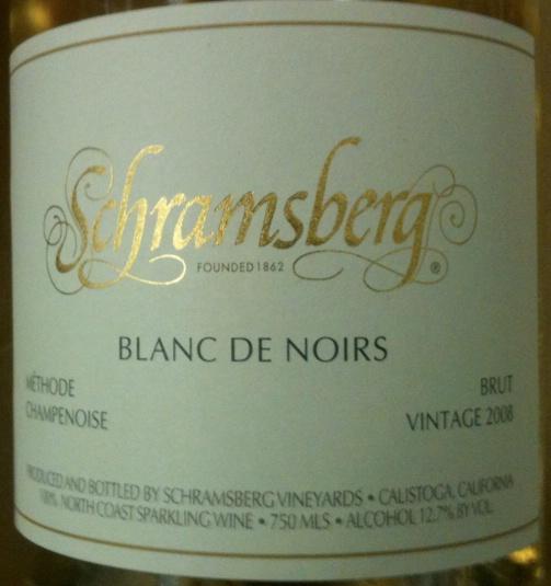 世酿伯格酒庄黑中之白起泡SCHRAMSBERG Brut Blanc de Noirs