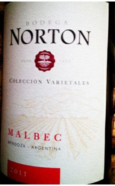 诺顿庄园白标马尔贝克干红Bodega Norton Varietales Jovenes Malbec