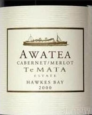 德迈阿瓦提赤霞珠-梅洛干红Te Mata Estate Awatea Cabernets - Merlot