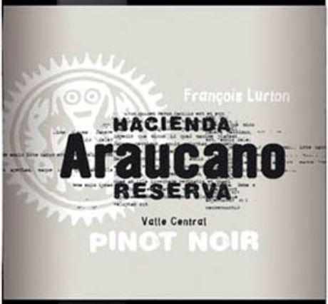 露顿阿诺卡珍藏黑皮诺干红hacienda araucano reserva Pinot Noir