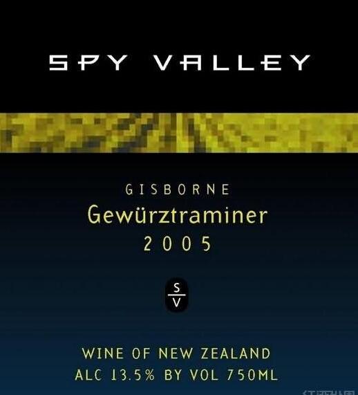 谍谷琼瑶浆甜白Spy Valley Gewurztraminer