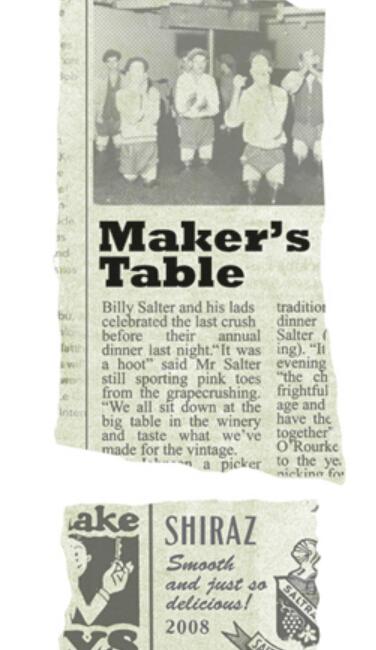 索莱酒园工作台设拉子干红Saltram Maker's Table Shiraz