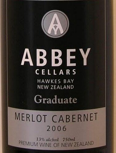 修道院结业梅洛-赤霞珠干红Abbey Cellars Graduate Merlot - Cabernet