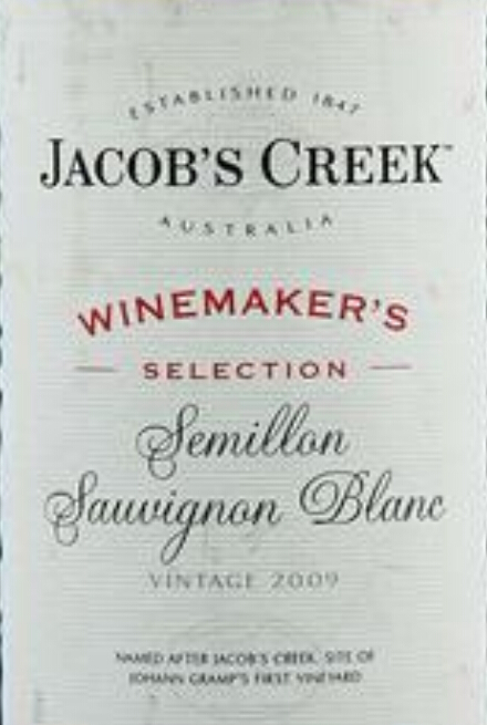 杰卡斯酿酒师臻选系列赛美蓉长相思干白Jacob's Creek Winemaker's Selection Semillon Sauvignon Blanc