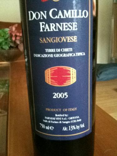 法尼丝卡米罗桑娇维塞干红Farnese Don Camillo Sangiovese