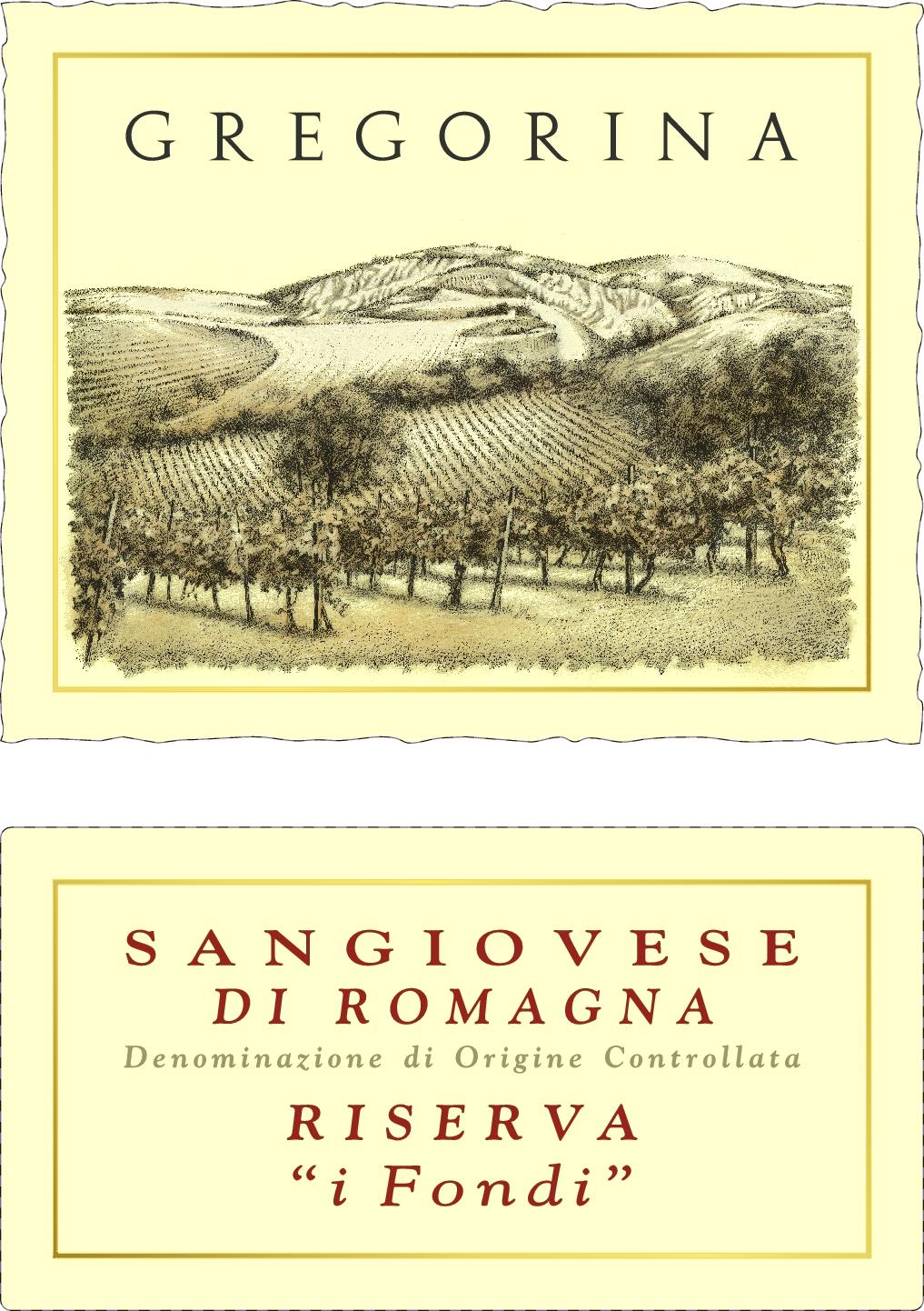 "谷丽桑娇维塞珍藏干红Gregorina Sangiovese Reserva ""i fondi"""