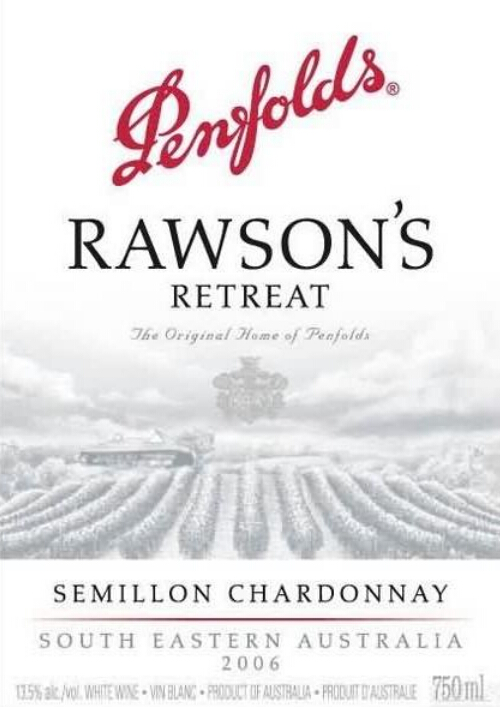 奔富洛神山庄赛美蓉-霞多丽干白Penfolds Rawson's Retreat Semillon - Chardonnay