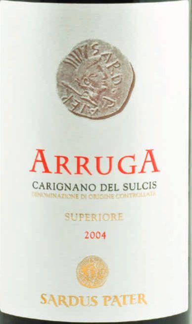 佩特高级阿鲁巴干红Cantina Sardus Pater Arruga Carignano del Sulcis Superiore