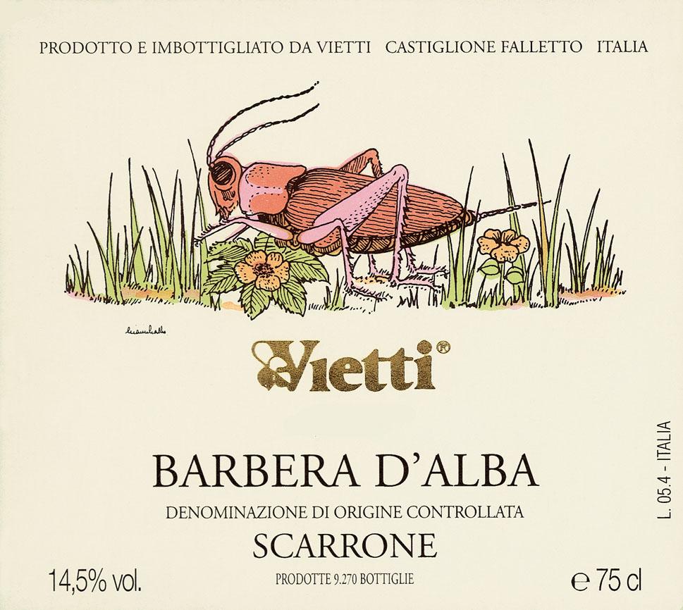 维埃蒂斯卡尔隆阿尔巴巴贝拉干红Vietti Barbera d'Alba Scarrone