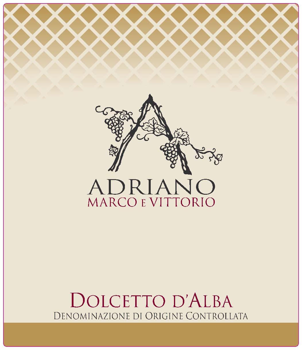 阿维多姿桃干红Adriano Marco e Vittorio Dolcetto d'Alba