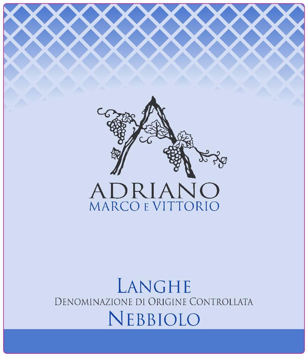 阿维内比奥罗干红Adriano Marco e Vittorio doc Nebbiolo