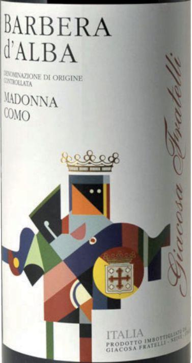 贾科萨圣母玛利亚科莫多阿尔马巴贝拉干红Fratelli Giacosa Madonna di Como Barbera d'Alba