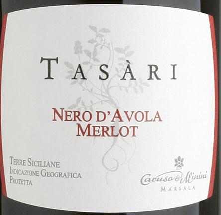卡鲁索-米尼尼塔萨瑞黑珍珠梅洛干红Caruso & Minini Tasari Nero D'Avola Merlot