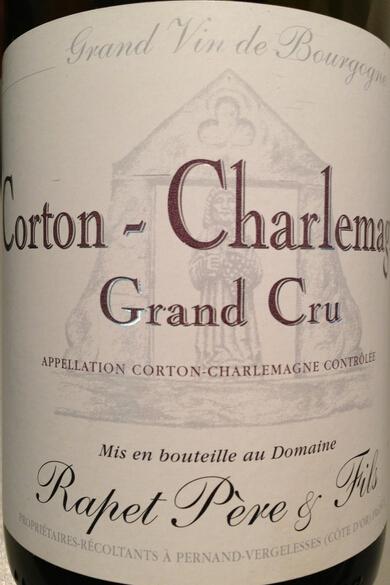 拉裴父子酒庄科通-查理曼特级园干白Rapet Pere et Fils Corton-Charlemagne Grand Cru